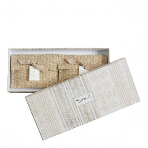 Coffret de 2 pochettes parfumées Palazzo Bello - Figuier Dolce