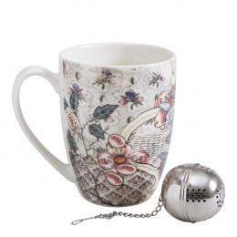 Coffret mug et boule à thé Madame de Pompadour