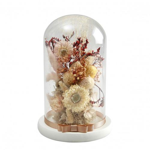 Cloche de fleurs séchées Cabinet des Merveilles - Moyen modèle