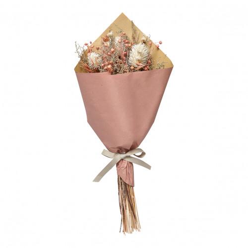 Bouquet de fleurs séchées corail - Grand modèle